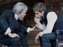 Jeff Bridges and Brenton Thwaites in 'The Giver'