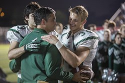 Jim Caviezel, Alexander Ludwig and Matthew Daddario in 'When the Game Stands Tall'