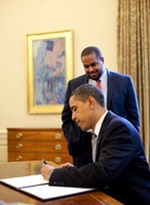 Obama signs proclamation.