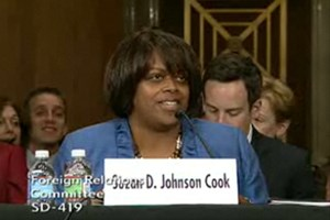 Suzan Johnson Cook at her first confirmation hearing.