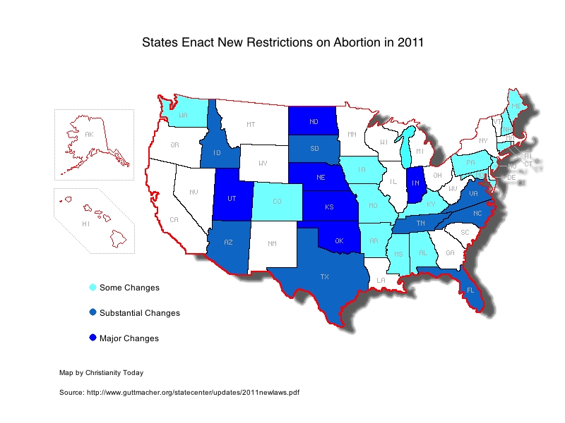 Supreme Court Rejects North Dakota Appeal On Abortion Restrictions: Abortion Laws By State Map At Slyspyder.com