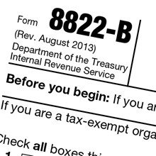 Sorting Out the Form 8822-B for Churches