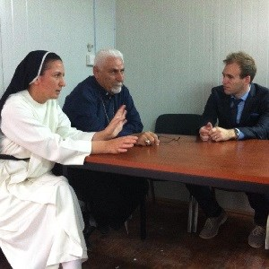Sister Diana and the Syrian Catholic Archbishop of Mosul, Yohanna Petros Mouche.