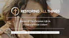 "Saturday is for Seminars: The April ""Restoring All Things"" Tour: Grand Rapids, Atlanta, Dallas"