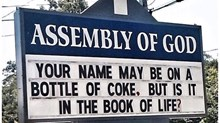 Church Signs of the Week: July 10, 2015
