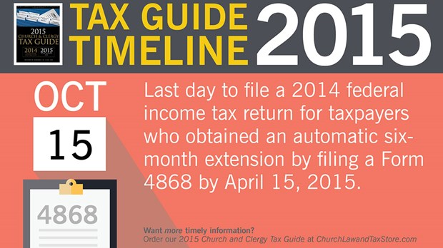 Tax Guide Reminder: October 2015