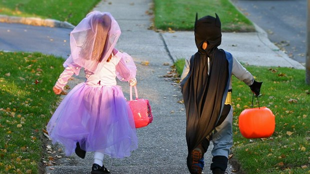 Image result for kids trick or treating