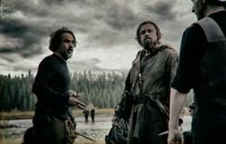 Alejandro González Iñárritu directs Leonardo DiCaprio on the set of 'The Revenant.'