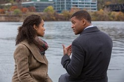 Will Smith and Gugu Mbatha-Raw in 'Concussion'
