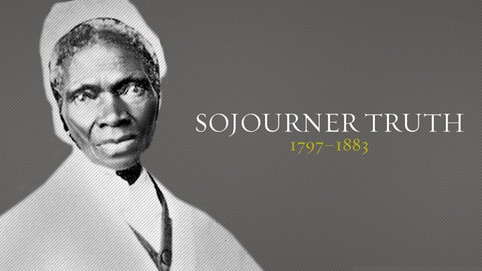 a biography of sojourner truth an african america abolitionist and womens right activist