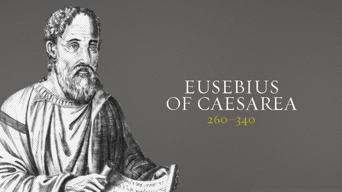 the father of church history eusebius Eusebius of caesarea (ad 260 - 340), was bishop of caesarea maritima about 314 as father of church history he produced the ecclesiastical history, on the.