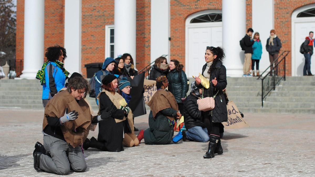 Embodied Solidarity protesters