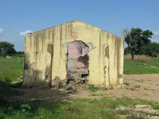A destroyed church in the northern Nigerian state of Bauchi.