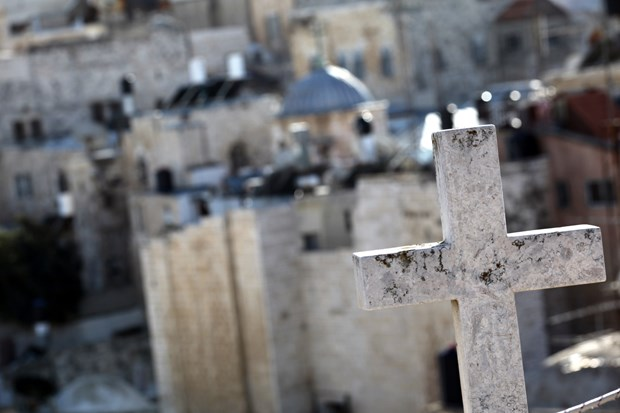 A cross in Jerusalem.
