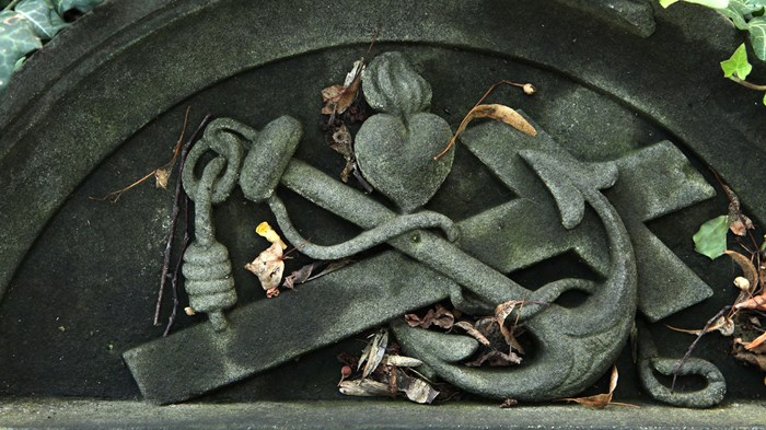 What is the origin of the anchor as a Christian symbol, and why do we no longer use it?