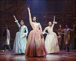 The Schuyler sisters in 'Hamilton: An American Musical'
