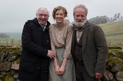 Davies with Agyness Deyn and Peter Mullan in 'Sunset Song'