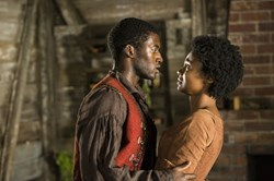 Malachi Kirby and Emayatzy Corinealdi in 'Roots'