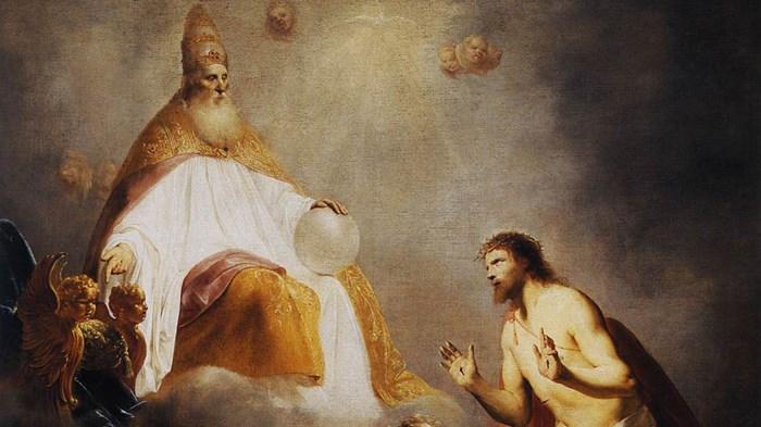 Oil Painting Of Praying Cherub