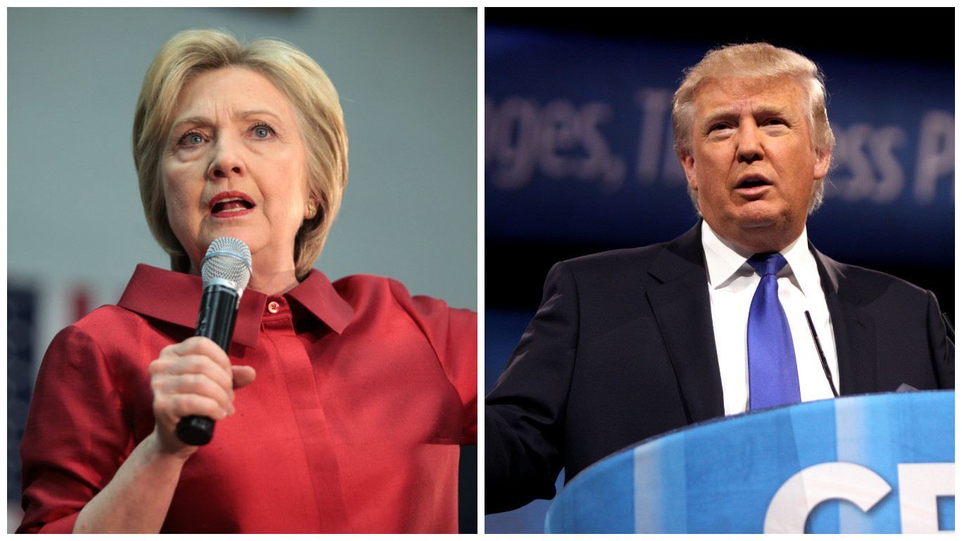 New national poll shows Trump up by 3 points over Clinton