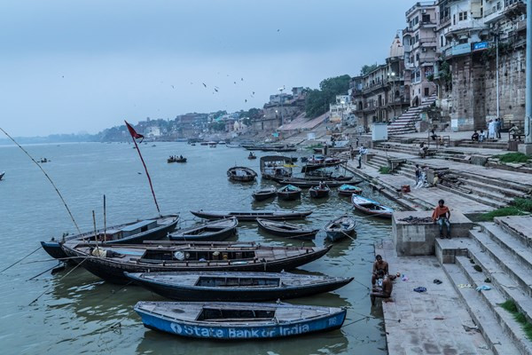 The famous ghats of Varanasi.