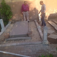 The Borden gravesite before recent renovations.