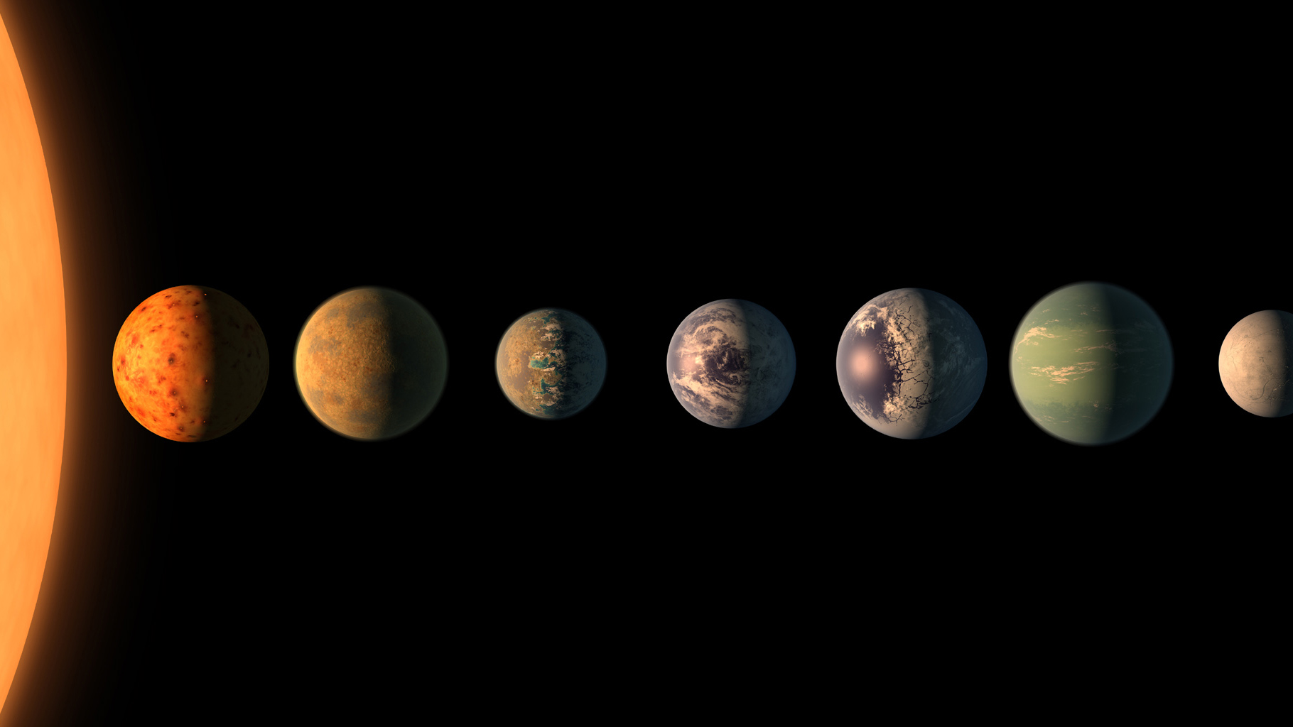 NASA Releases First Images Of TRAPPIST-1 System