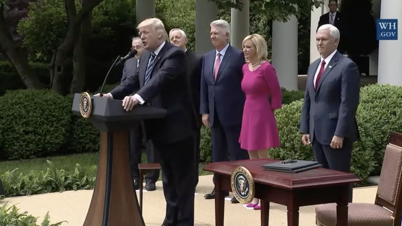 President Trump signs executive order giving Churches more political freedom