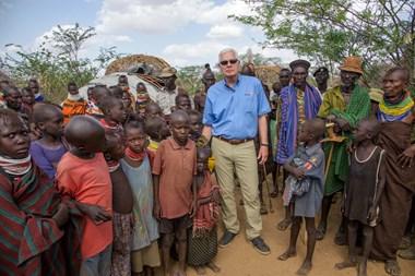 Richard Stearns in Kenya's Turkana region.