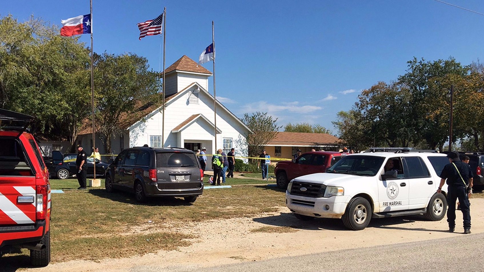 Gunman opens fire at Texas church, killing at least 20