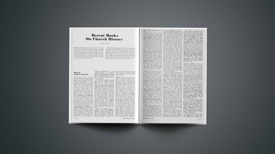Recent Books on Church History