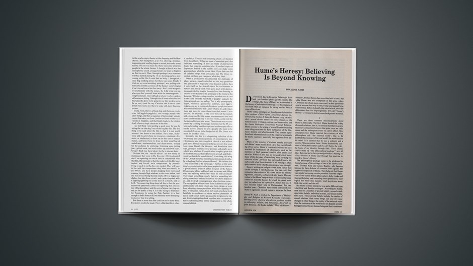 Hume's Heresy: Believing Is beyond Knowing