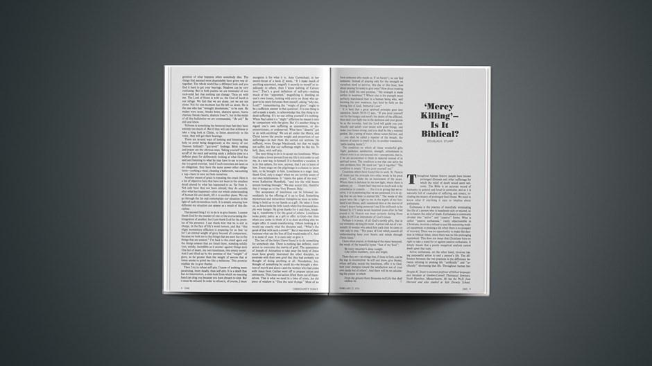 'Mercy Killing'—Is It Biblical?