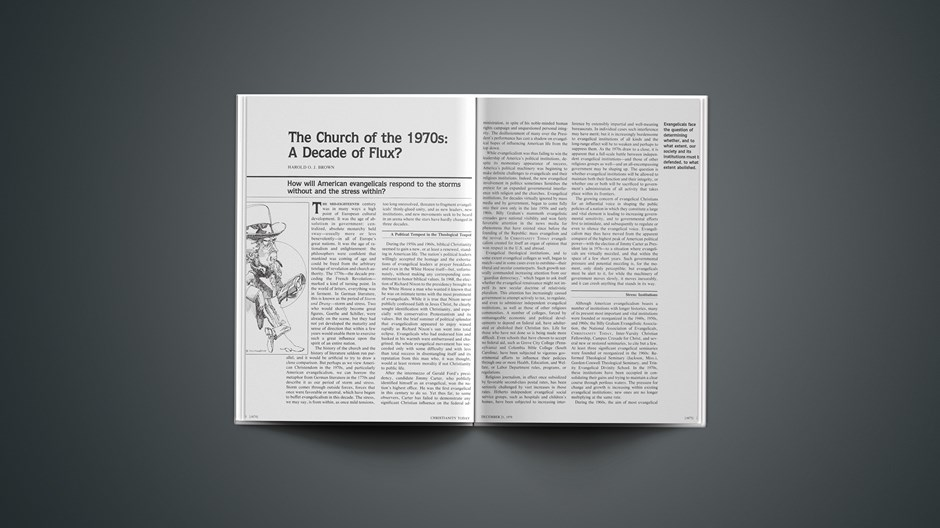 The Church of the 1970s: A Decade of Flux?: Where and Who Are We?