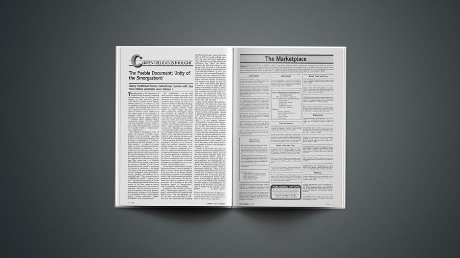The Puebla Document: Unity of the Smorgasbord