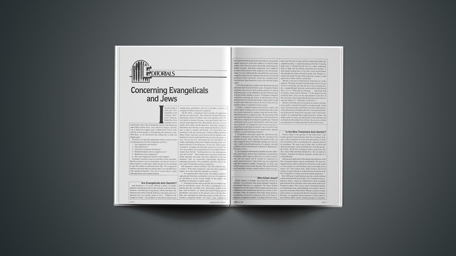 Concerning Evangelicals and Jews