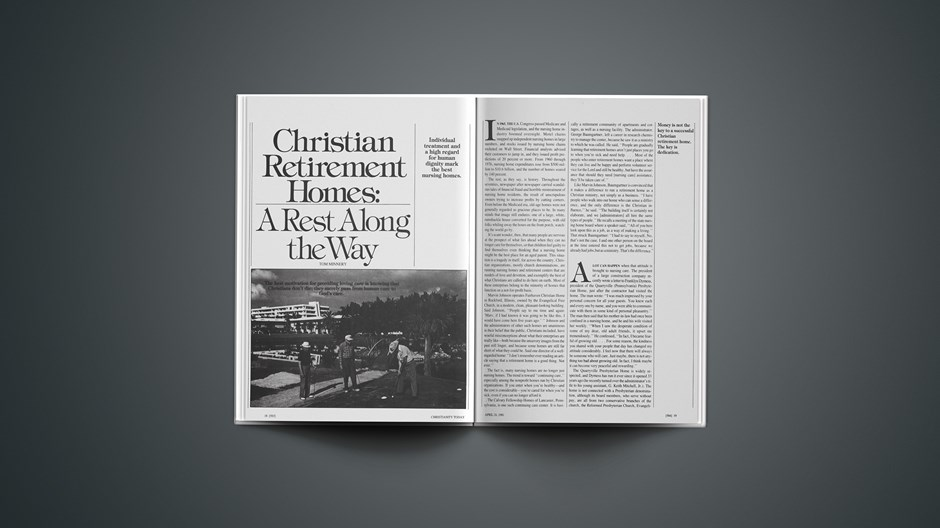 Christian Retirement Homes: A Rest along the Why