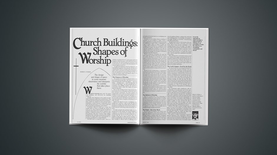 Church Buildings: Shapes of Worship