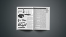 The Bible: Both the Source and Setting for Learning