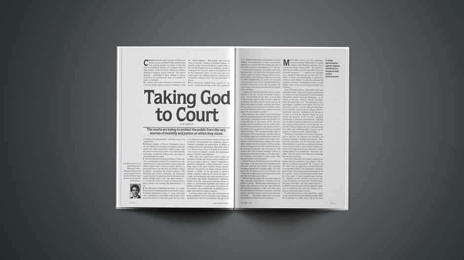 Taking God to Court