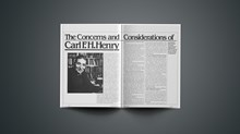 The Concerns and Considerations of Carl F.H.Henry