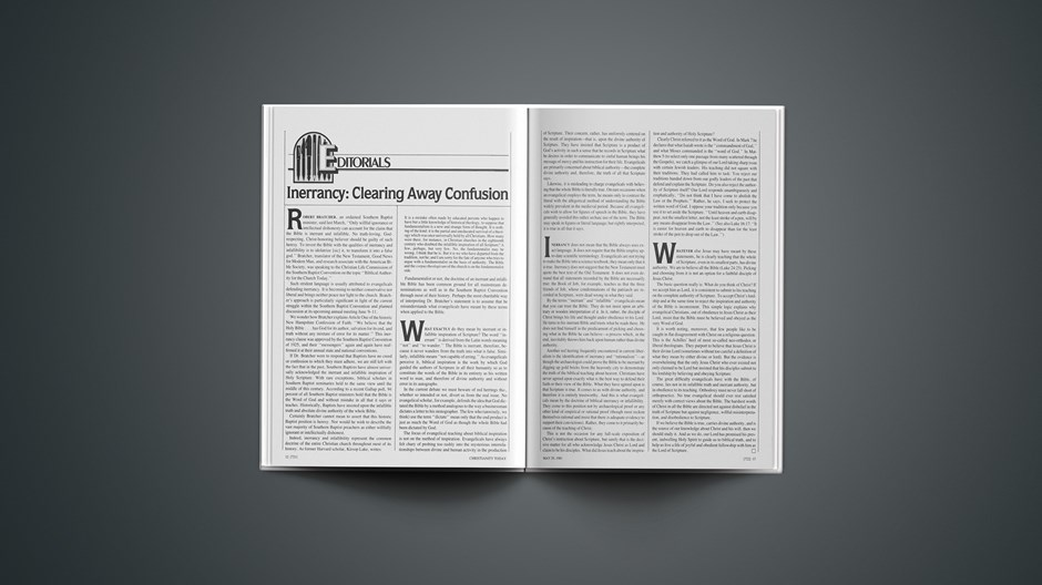 Inerrancy: Clearing Away Confusion