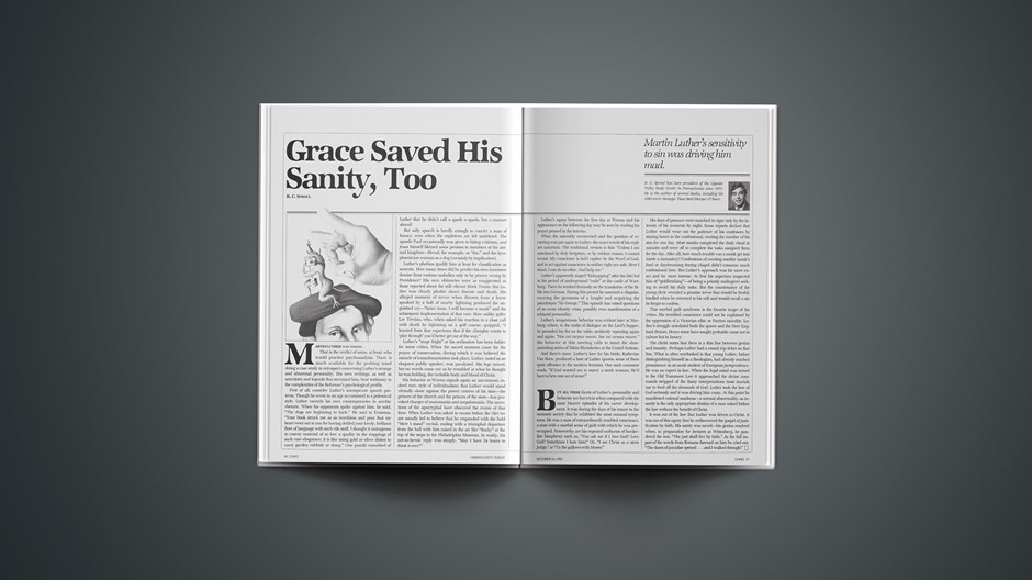 Grace Saved His Sanity, Too