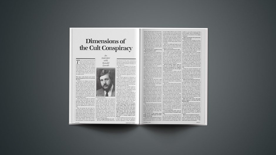 Dimensions of the Cult Conspiracy