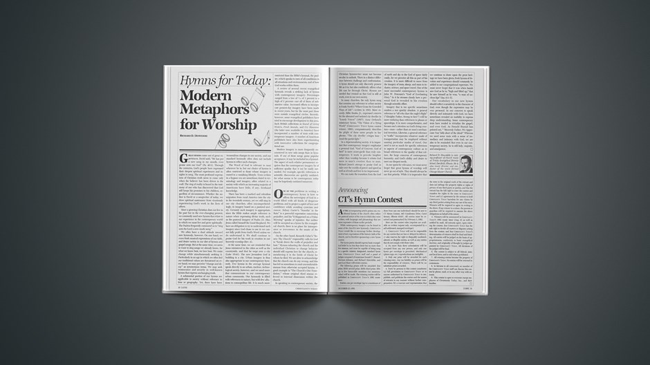 Hymns for Today: Modern Metaphors for Worship
