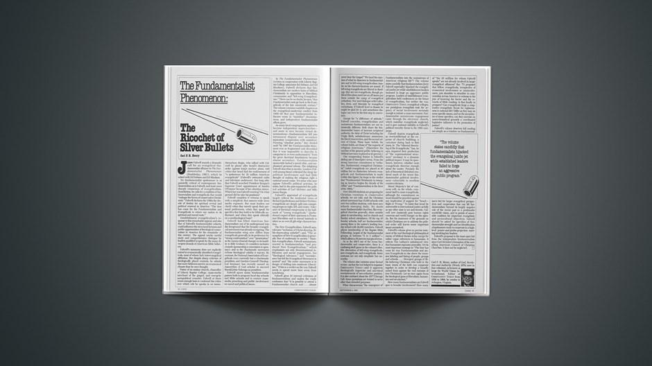 The Fundamentalist Phenomenon: The Ricochet of Silver Bullet