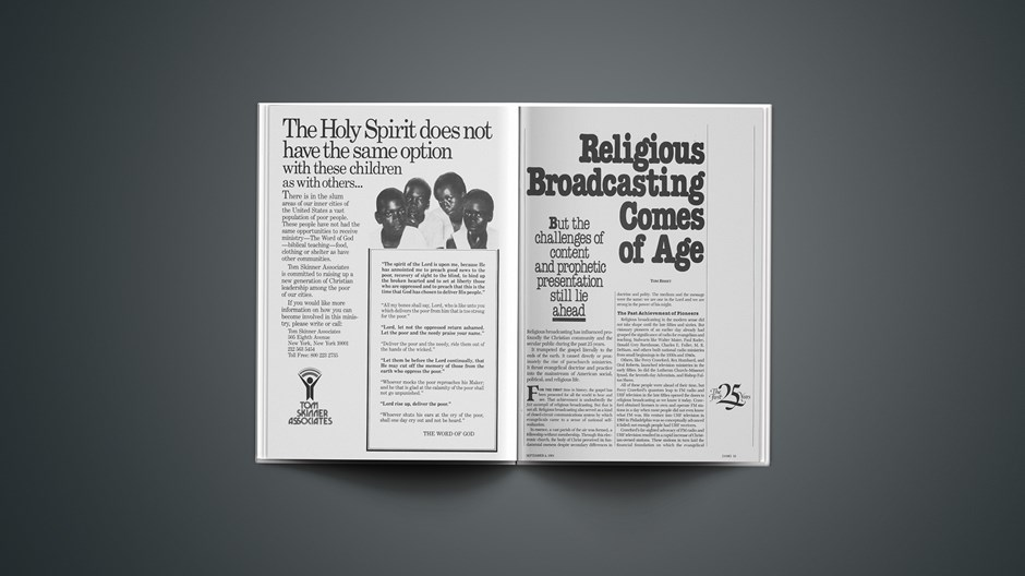 Religious Broadcasting Comes of Age