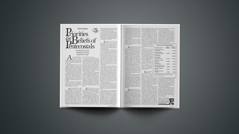 Priorities & Beliefs of Pentecostals