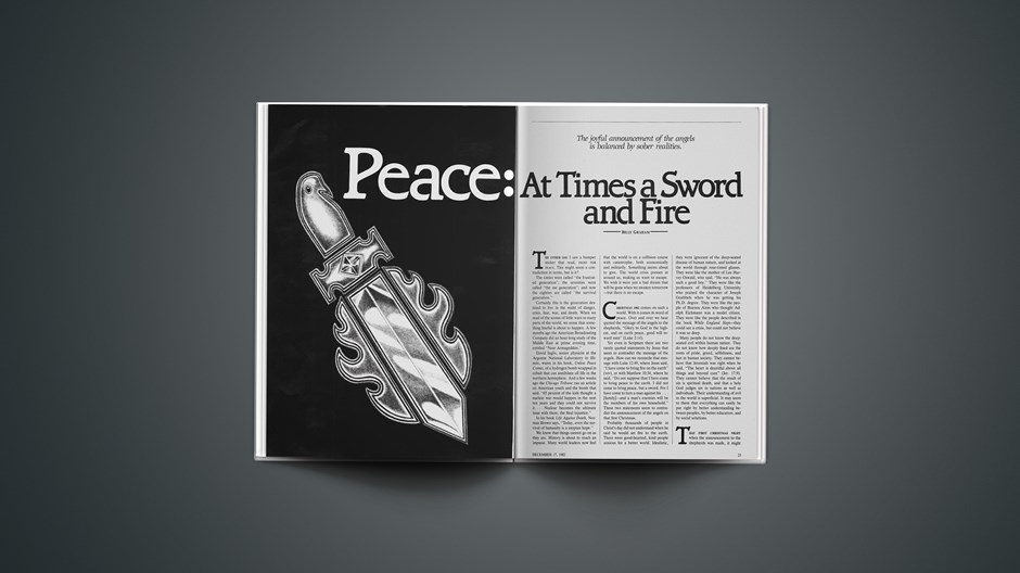 Peace: At Times a Sword and Fire
