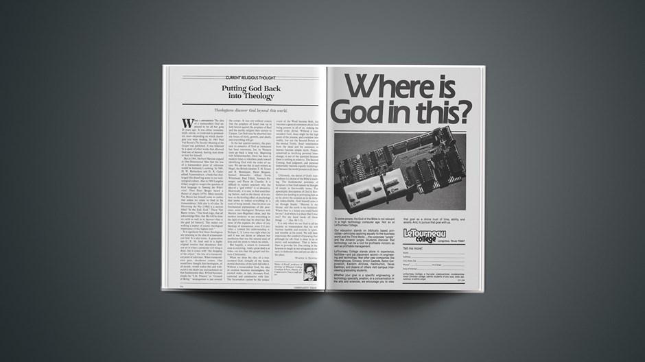 Putting God Back into Theology